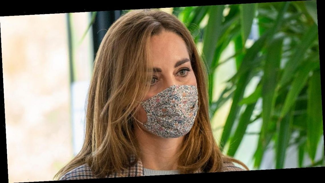 Kate Middleton stuns in floral face mask as she visits Derby University to discuss impact of pandemic