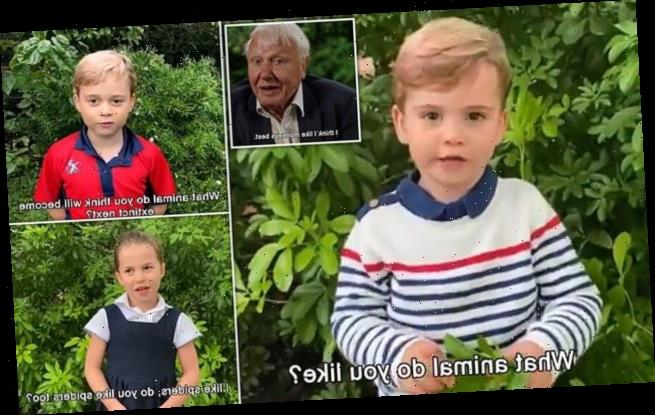 Prince Louis, Prince George and Princess Charlotte ask questions