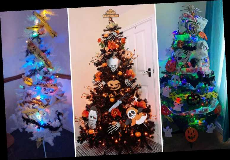 Mum shows off her Halloween tree after sneaking her Christmas decorations up early – and she's not the only one – The Sun