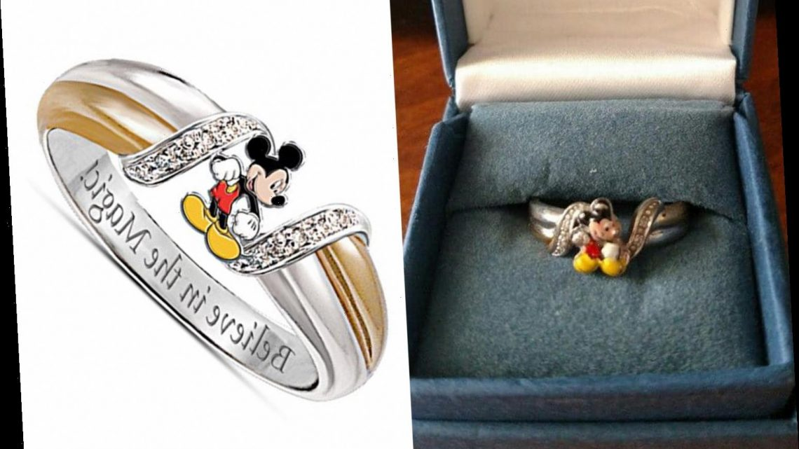Bride-to-be mercilessly trolled for her Mickey Mouse engagement ring which people have dubbed the 'worst EVER'