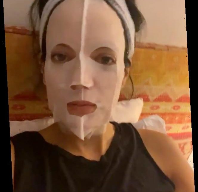 Lily Allen Hydrates Her Skin Before Bed — Plus More Celebs Face Mask Selfies