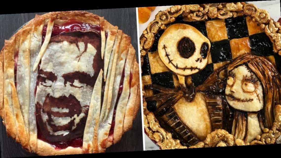 A self-taught baker makes incredible Halloween pies decorated with characters from your favorite spooky movies
