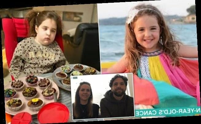 Parents of girl with inoperable brain tumour appear on This Morning