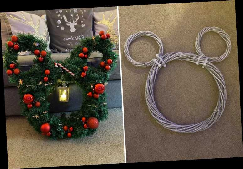 Disney fans are making Mickey Mouse-themed wreaths for Christmas 2020