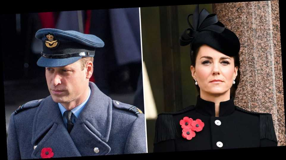 Kate and Prince William Join Queen Elizabeth II at Remembrance Day Ceremony