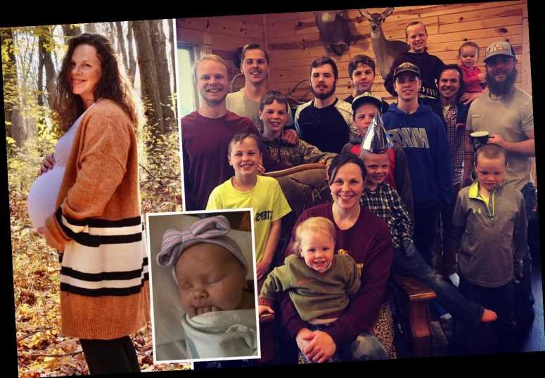 Couple who had 14 sons over three decades FINALLY welcome their first daughter