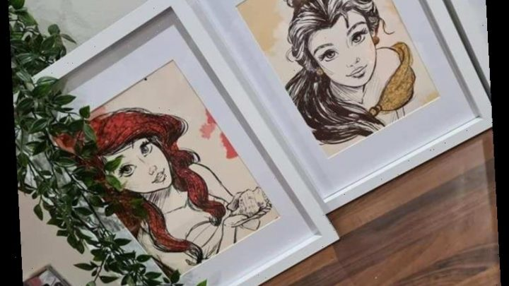 Thrifty mum makes Disney princess prints using £1 Poundland bags in B&M frames & it's the perfect Christmas present