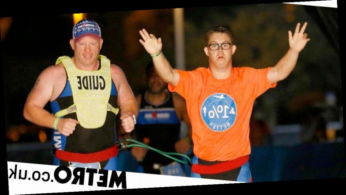 Man, 21, becomes first person with Down's syndrome to complete Ironman triathlon