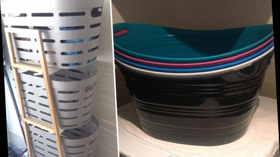 Mum-of-four shares her clever 'tub' system to keep her house spotless and claims she NEVER has to do the ironing