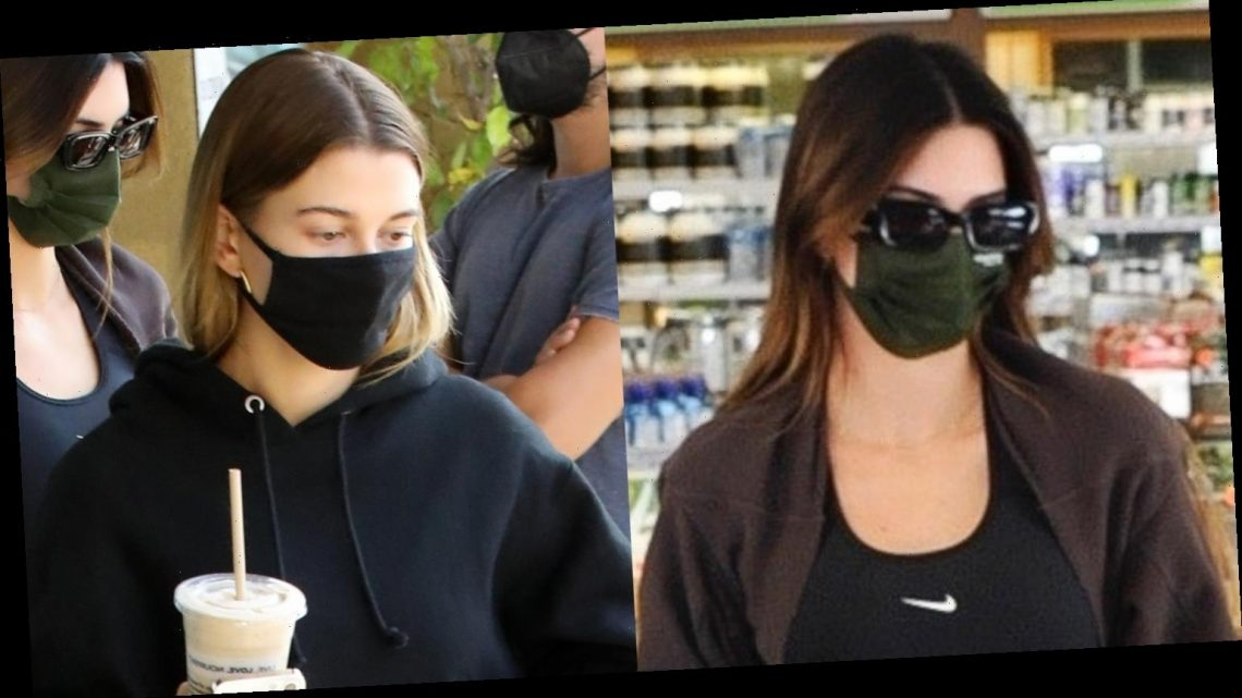 Kendall Jenner & Hailey Bieber Grab Juices While Out in WeHo