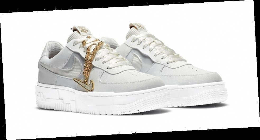 "Nike Air Force 1 Low Pixel ""Summit White"" Comes With a Chain Accessory"