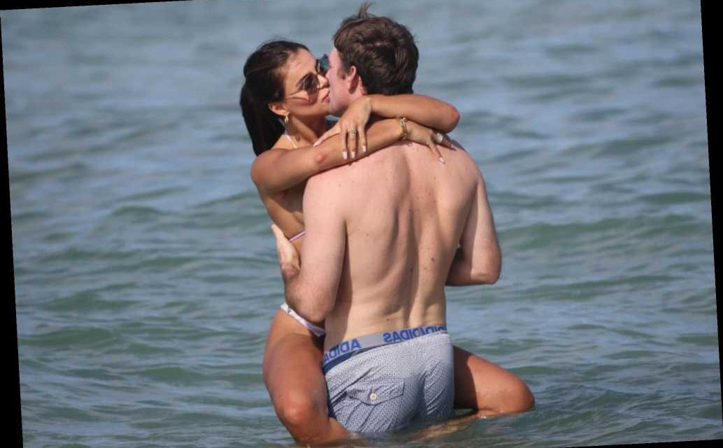 'SI' model Brooks Nader cavorts with husband Billy Haire in Miami