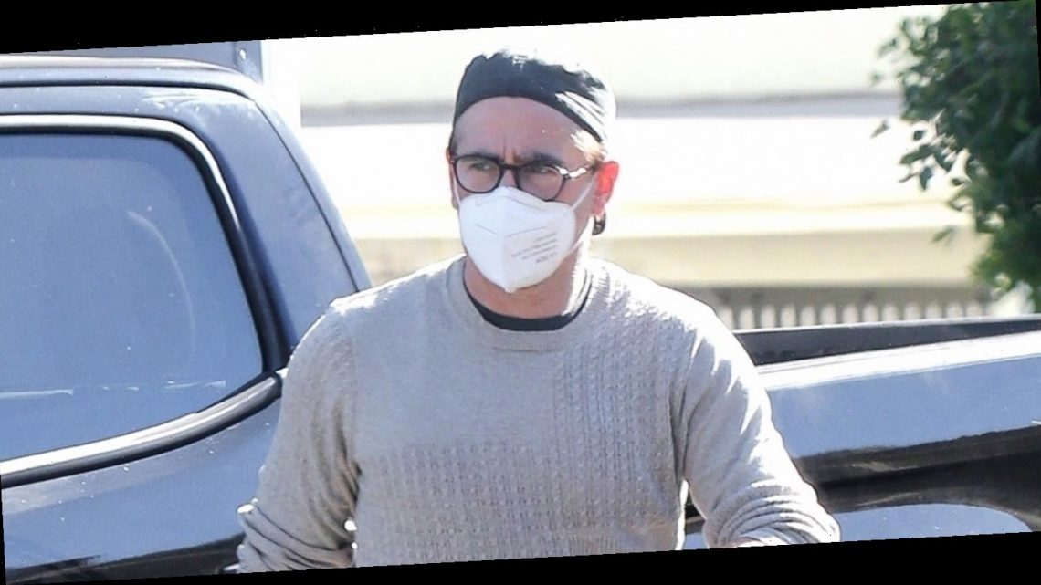 Colin Farrell Masks Up During a Trip to the Gas Station