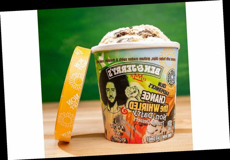 Ben & Jerry's and Colin Kaepernick Team Up on a Vegan Ice Cream Flavor Called 'Change the Whirled'