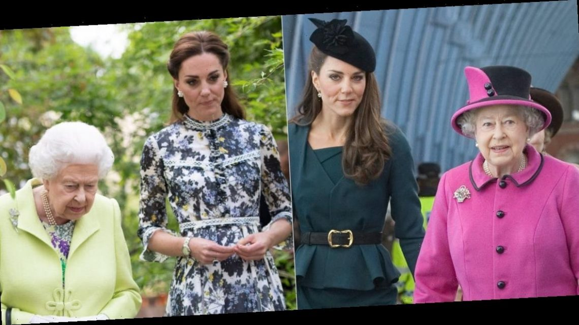 13 photos show how the Queen has influenced Kate Middleton's fashion choices