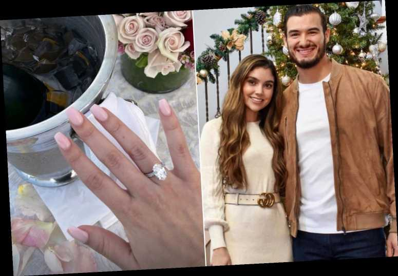 All the details on Hillary Gallagher's engagement ring from Mitch Trubisky