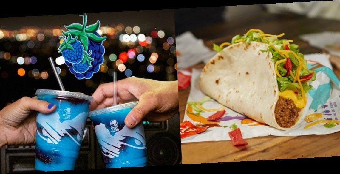 Taco Bell's New January 2021 Menu Items Include A Nacho Taco & A Berry-Flavored Freeze