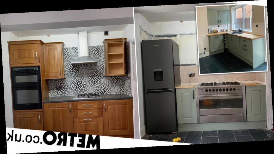 Couple renovate run down kitchen for £600 – including a new fridge and oven