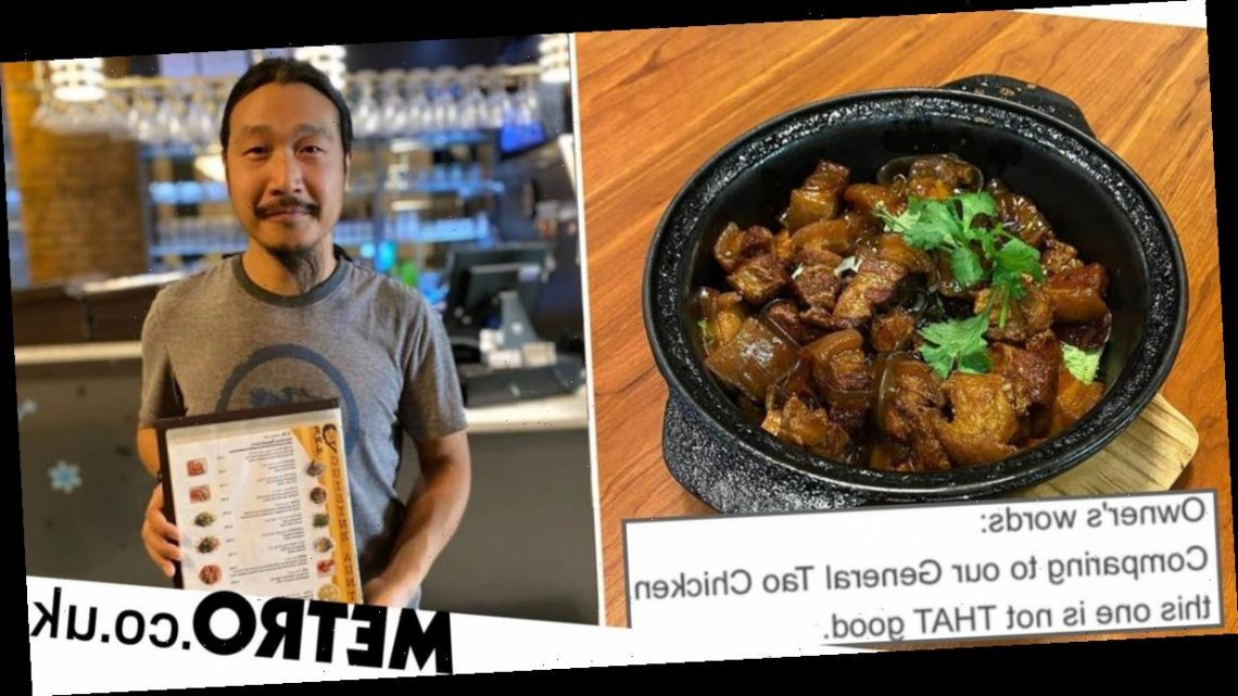 Chinese restaurant owner gives honest reviews for his own food on the menu