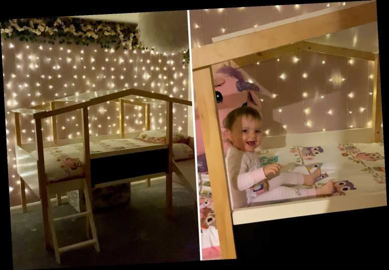 Mum transforms daughter's first bedroom into epic fairytale room using bargains from Amazon