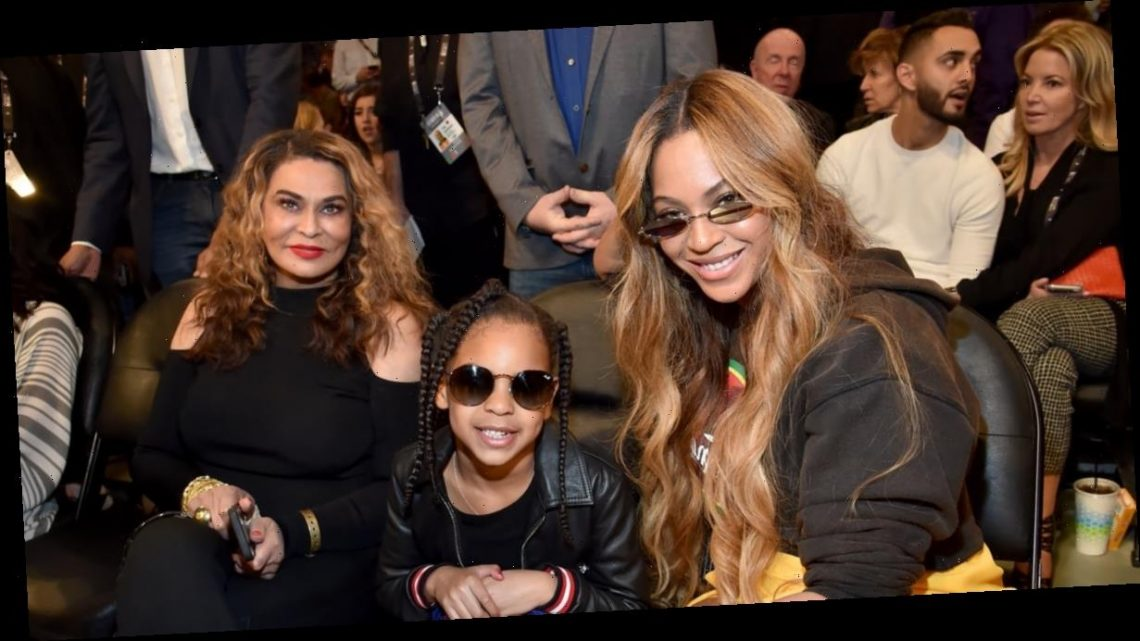 Tina Knowles-Lawson Let Blue Ivy Do Her Makeup Again, and Now We're Even More Impressed