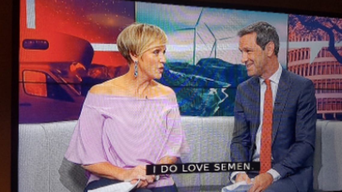'Salmon! I love salmon!': Hilary Barry reacts to X-rated subtitle gaffe