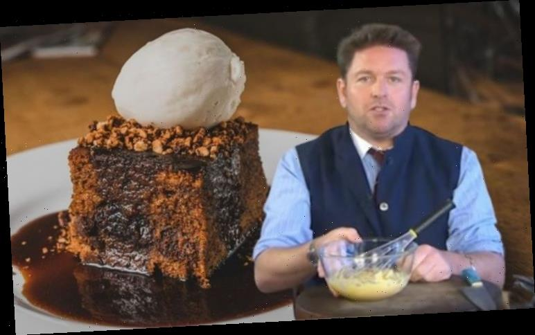 James Martin's seven step freezable sticky toffee pudding recipe with a rich toffee sauce