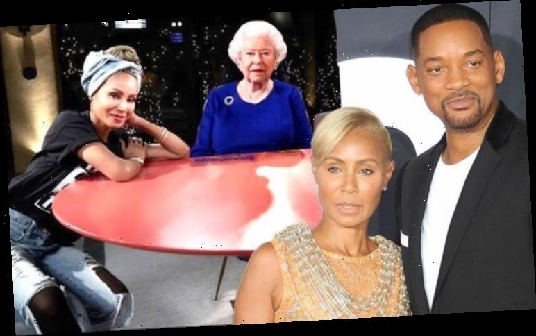 Will Smith's wife Jada Pinkett Smith mocks the Queen after Harry and Meghan interview airs