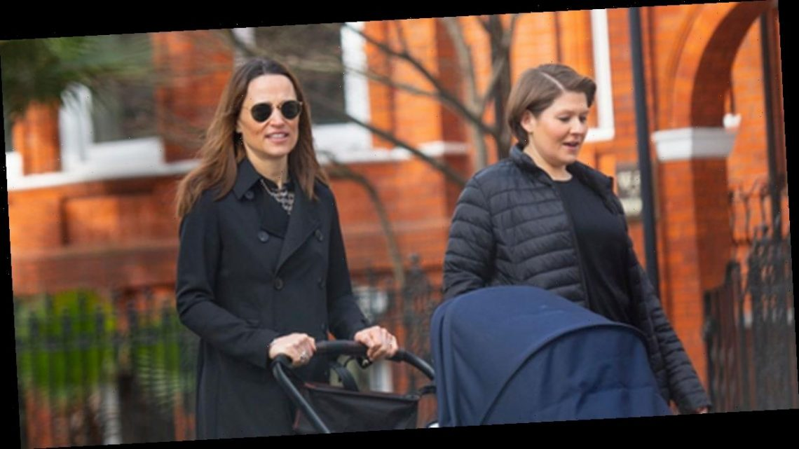 Pippa Middleton glows as she's spotted out with baby daughter Grace for first time after giving birth