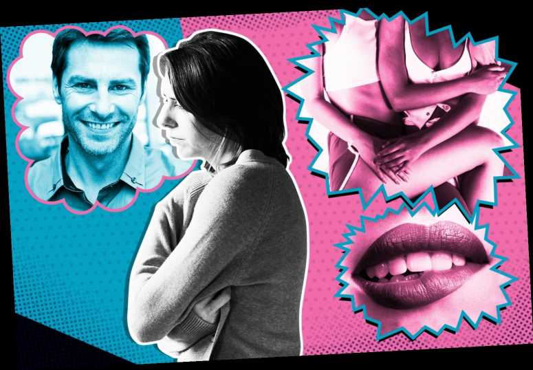 I have hot lesbian fantasies… while having boring sex with my husband