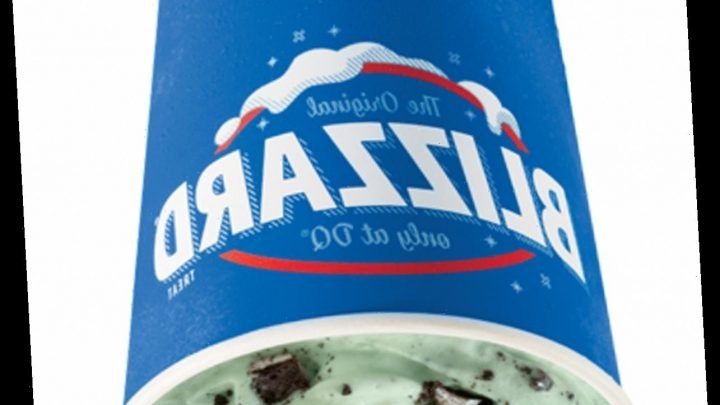 Dairy Queen's St. Patrick's Day 2021 Blizzard Is A Festive Mint & Oreo Combo