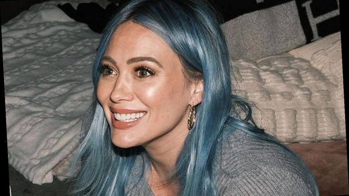 Pregnant Hilary Duff Insists Her New Blue Hair Has Nothing to Do With Baby's Gender