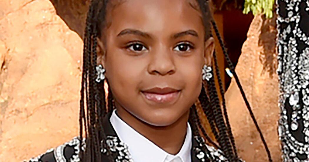 Blue Ivy Carter, Beyoncé's daughter, wins her first Grammy.