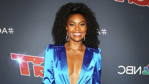 Gabrielle Union Rocks Nothing But Calvin Klein Undies & Socks In Sexy At Home Makeup-Free Pic