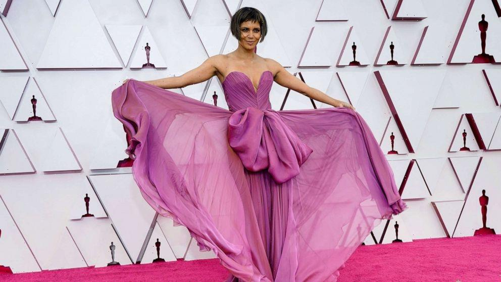 Halle Berry debuts new short blunt haircut and bangs for Oscars 2021