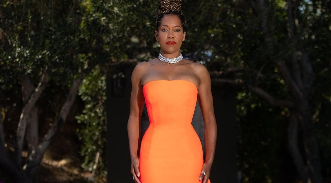 It's Time We Talked About Regina King's Epic Train at the Costume Designer Guild Awards