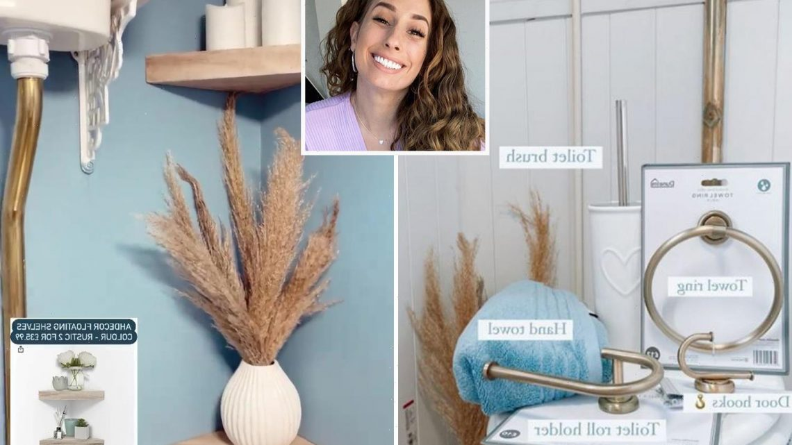 Stacey Solomon shows off her budget bathroom makeover and it's all thanks to £5 Dunelm and Primark bargains