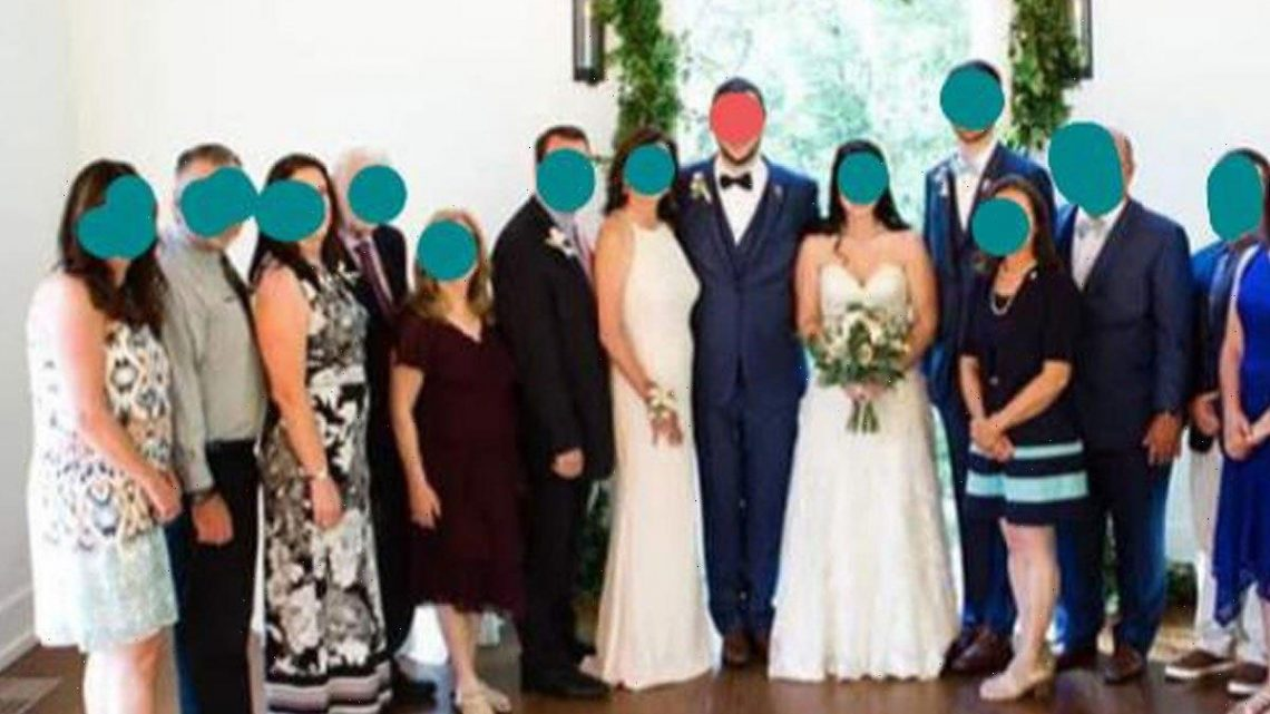 Wedding guests horrified by mother-in-law's white dress & she's so close to the groom no one can tell who the bride is