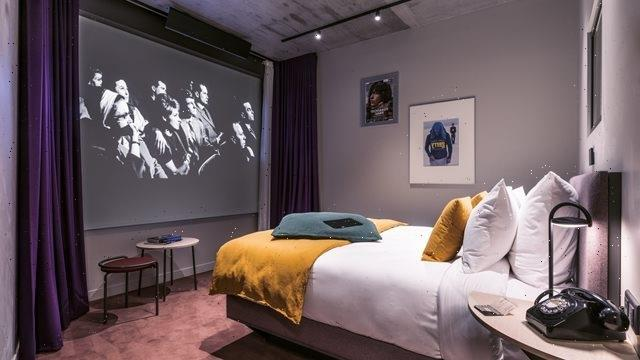 You can stay at a film-inspired hotel in France – with 9ft movie projectors in every room and a karaoke suite