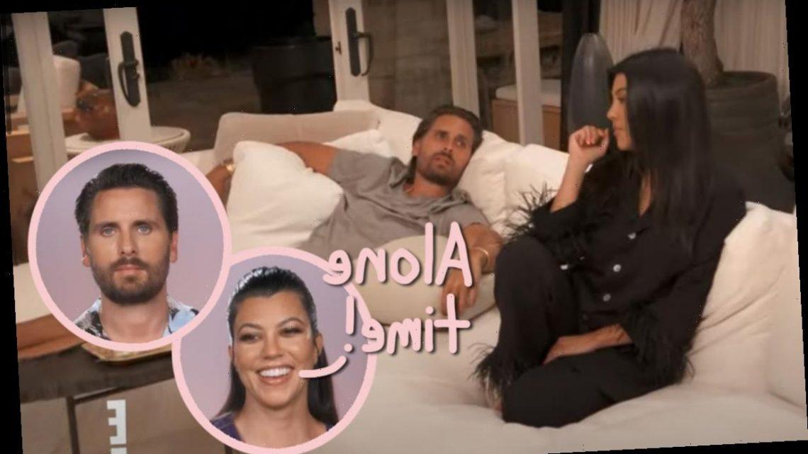 Kourtney Kardashian & Scott Disick Enjoy Unexpected Night Alone On KUWTK
