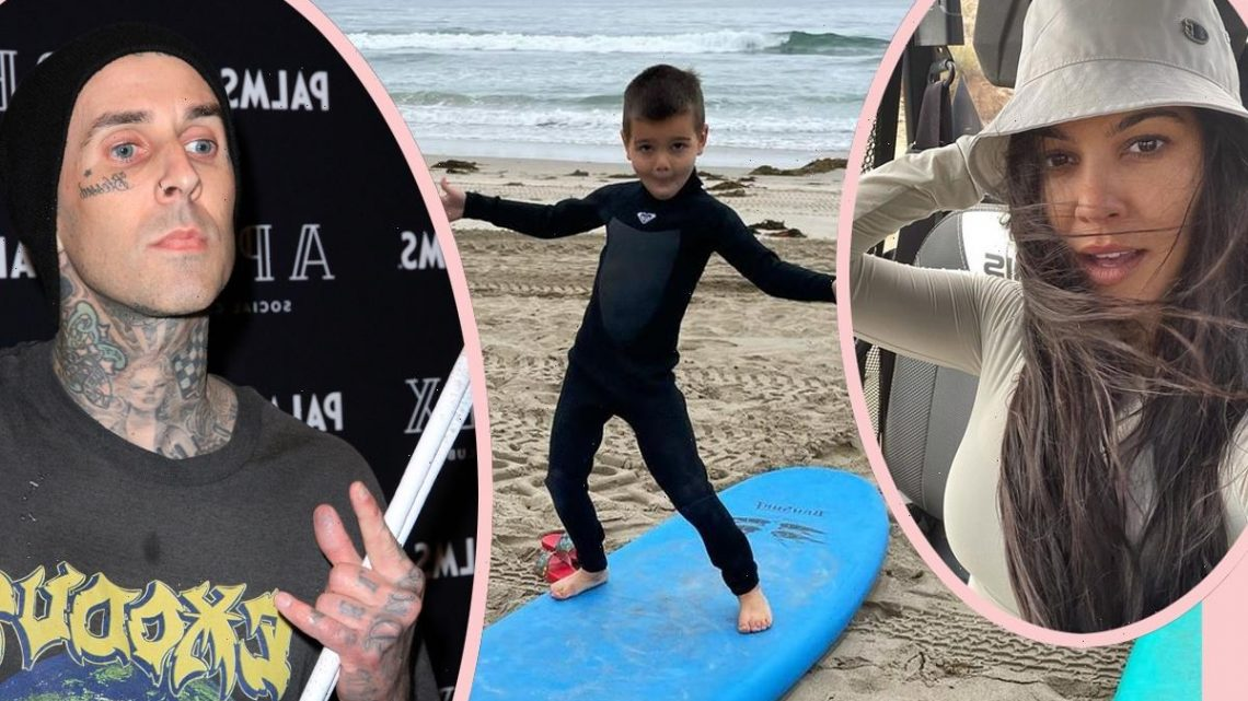 Awww! Travis Barker Cheers On Kourtney Kardashian's Son Reign! Look!