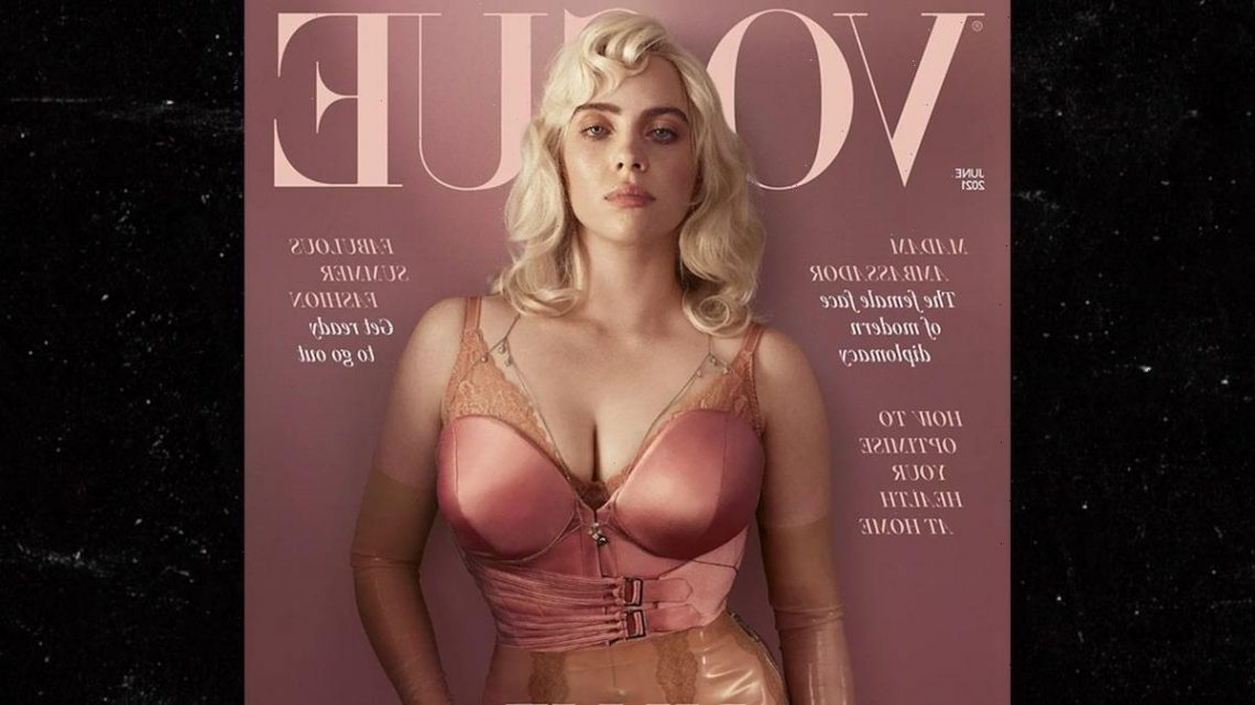 Billie Eilish Looks Like a Blonde Bombshell on British Vogue Cover