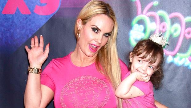 Coco Austin, 42, & Daughter Chanel, 5, Wear Matching Blush Bikinis In Cute New Poolside Pic