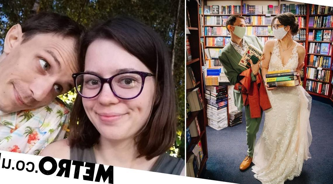 Couple who had first date at Oxford bookshop return on their wedding day
