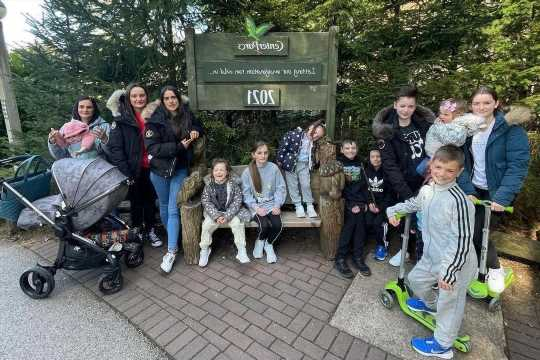 Inside Britain's biggest family's epic Center Parcs weekend as mum-of-22 Sue surprises kids with bank holiday break