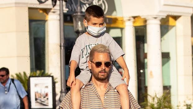 Scott Disick Carries Son Reign, 6, On His Shoulders While Running Errands In Calabasas — Pic