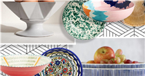 These stylish serving bowls are perfect for hosting, whether indoor or al fresco