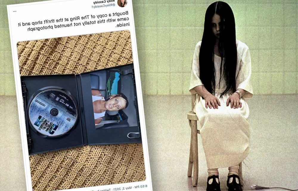 Woman terrified after finding 'haunted' photo in old copy of 'The Ring'