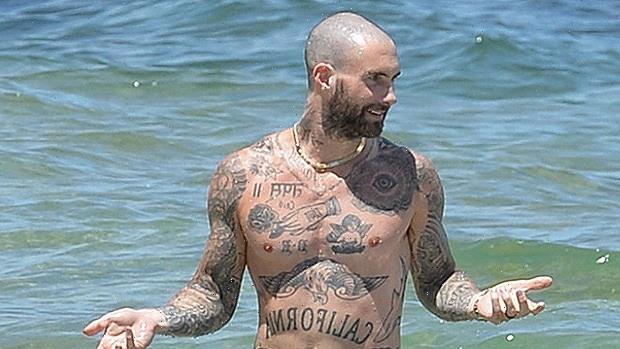 Adam Levine Goes For Shirtless Dip With Bikini-Clad Behati Prinsloo On Hawaii Vacation — See Pics