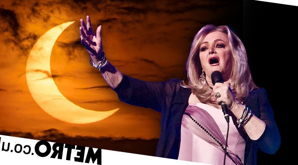 Bonnie Tyler gets swarmed by eclipse jokes and she must be a little bit tired